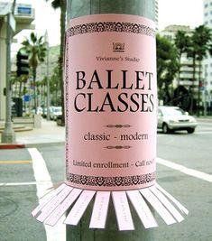 BAllet Classes Guerilla Marketing cool campaign