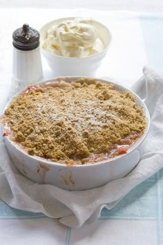 Apple and Rhubarb Crumble Recipe | Allyson Gofton
