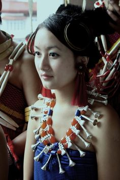 An Ao Damsel in her traditional attire. Naga People, Northeast India, Ethnic Dress, People Photography, Traditional Dresses, Pretty Face, Indian Beauty, Culture, Lady