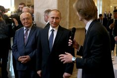 PUTIN VLADIMIR Russian President. Vladimir Putin at a meeting with students of the Moscow State University. January 25, 2017. Moscow. Russia.