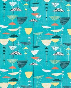 Lucienne Day mid century textile print