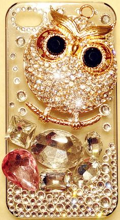 3D Large Fancy OWL Case for iPhone 4S & 4 High Quality Crystals Bling Bird | eBay