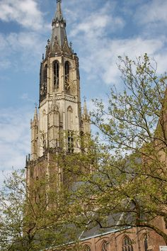 Built between 1396 and 1496, the Nieuwe Kerk has been the location of royal burials in the Netherlands,  since 1584.  Find out more about Delft at:    http://mikestravelguide.com/around-delft/