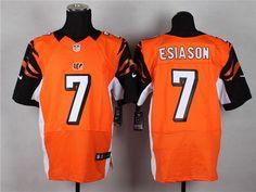Nike Cincinnati Bengals #7 Boomer Esiason Orange Elite Jersey