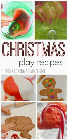Over 30 Christmas play recipes for kids - doughs, paints, slimes, Science play, and MORE! {So many fun ideas! }