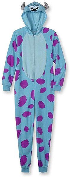 Disney Women s One Piece Pajama Set Union Suit Sleepwear (Sulley d5ea89293