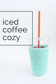 awesome cozy for keeping your iced coffee cold and hands dry!