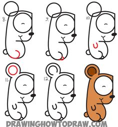How To Draw Cartoon Bear Cub From Lowercase Letter G