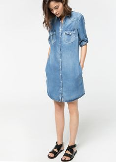 Medium soft denim dress -  Women | MANGO USA