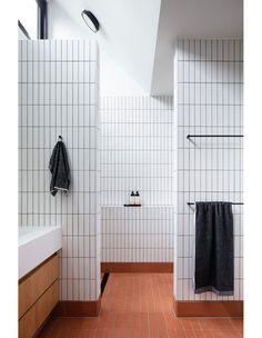 Upstairs Bathrooms, Dream Bathrooms, Master Bathroom, Interior Design Awards, Bathroom Interior Design, Prefab Extensions, Mid Century Bathroom, Bathroom Design Inspiration, Bathroom Toilets