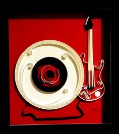 paper quilling of a guitar - Google Search
