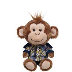 Playful Plaid build-a-bear smallfrys® Cheerful Monkey
