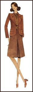 1971 Tailored jacket and inverted pleat skirt pattern cover.