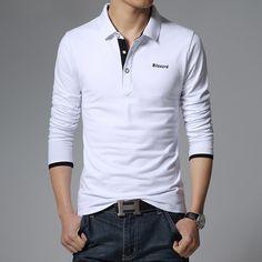 Free Shipping 2017 Spring New High Quality Men's Long-sleeved T Shirt Lapel Plus Size Code M-5xl Turn-down Collar T Shirt