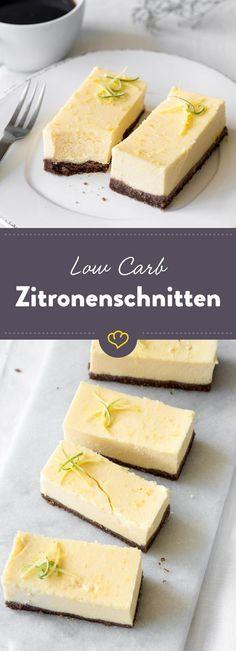 Saftiger Low-Carb-Cheesecake vereint mit zitroniger Note macht sich besonders gut zu deiner Tasse Kaffee am Nachmittag.