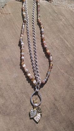 New for 2015! Eve Pendant Necklace made with Agate Beads and Brass