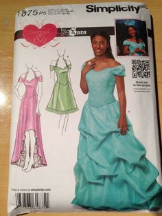 Simplicity Pattern 1875 Misses Special Occasion by SplashOfLuv, $10.99