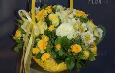 #Coș cu #flori de trandafiri, #eustome si #alstroemerii - #Livrare în Chișinău, #Moldova