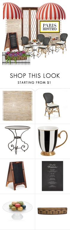 """paris bistro"" by jenesaisquoilifestyle ❤ liked on Polyvore featuring interior, interiors, interior design, дом, home decor, interior decorating, Frontgate, Arteriors, EASEL и The French Chefs"