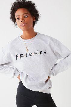 Friends Logo Crew-Neck Sweatshirt   Urban Outfitters