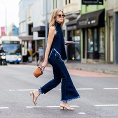 Jean on jean makes for perfect Summer street style.