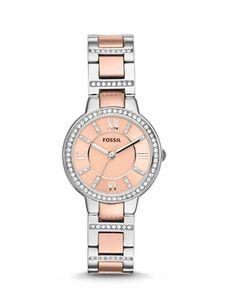 Fossil Watch, Women's Virginia Two-Tone Stainless Steel Bracelet - Women's Watches - Jewelry & Watches - Macy's Fossil Watches, Cool Watches, Women's Watches, Ladies Watches, Wrist Watches, Fashion Watches, Stainless Steel Watch, Stainless Steel Bracelet, Virginia