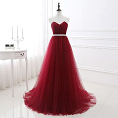 Cheap prom gown, Buy Quality plus gowns directly from China burgundy evening dress Suppliers: Elnorbridal Real Photo Burgundy Evening Dress Plus Size Formal 2017 Vestido Longo De Festa Imported Party Dress Long Prom Gowns A Line Prom Dresses, Tulle Prom Dress, Cheap Prom Dresses, Long Dresses, Quinceanera Dresses, Tulle Lace, Wedding Dresses, Satin Tulle, Plus Size Formal