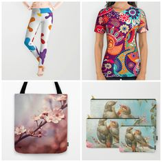 #fashion #womenswear in different products. Check more #leggings #carryallpouch #totebag #allprinttshirt at society6.com/julianarw