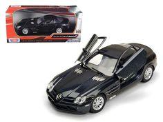 Mercedes Mclaren SLR Metallic Black 1/24 Diecast Model Car by Motormax