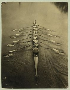 Hahnemuhle PHOTO RAG Fine Art Paper (other products available) - ROWING TEAM, <br>The Cambridge rowing team on a river. Photograph, - Image supplied by Granger Art on Demand - Fine Art Print on Paper made in the UK Men's Rowing, Rowing Team, Rowing Crew, Rowing Sport, Rowing Shell, Photo Vintage, Vintage Photos, Softball, Bon Sport