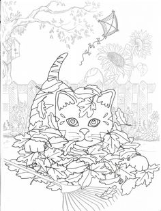 Coloring Pages For Grown Ups, Fall Coloring Pages, Cat Coloring Page, Free Adult Coloring Pages, Doodle Coloring, Animal Coloring Pages, Printable Coloring Pages, Coloring Books, Fall Drawings