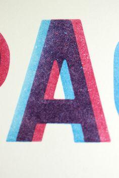 F-space Letterpress Portfolio Piece