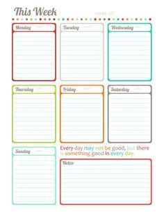 free printable weekly to do list weekly planner printable