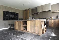Belgian bluestone - Ref - Modern Kitchen Design, Interior Design Kitchen, Kitchen Gallery, Modern Fireplace, Traditional Kitchen, Küchen Design, Country Kitchen, Home Kitchens, New Homes