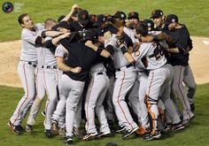 Watching the Giants win the last game of the season has become commonplace It took the Giants 53 seasons to win a World Series after lea. My Giants, Giants Baseball, Sf Giants World Series, Love My Boys, My Love, 2010 World Series, Better Baseball, Last Game, G Man