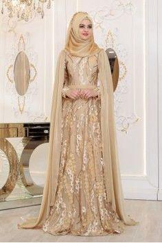 Formal Casual, Gold Evening Dresses, Pakistani Wedding Dresses, Wedding Hijab, Mode Abaya, Girls Dresses, Flower Girl Dresses, Hijab Bride, Types Of Dresses