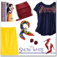 How To Wear Disney's Snow White and the Seven Dwarfs Outfit Idea 2017 - Fashion Trends Ready To Wear For Plus Size, Curvy Women Over 20, 30, 40, 50