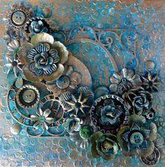 Mixed Media Canvas - Scrapbook.com