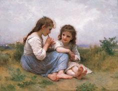 Renaissance Art- I really enjoy the innocence of the this painting. It is so simple which is what makes it so beautiful. The colors used makes the painting soft and peaceful which is the emotion that the girls seem to be showing.