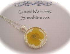 Memories of Buttercups in the Garden  - a real dainty buttercup Memory Necklace