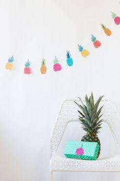 DIY Pineapple Garland + Free Printable