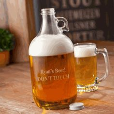 Great gift for the groom, groomsmen or any SPECIAL  someone! Beer Growler! GRRR
