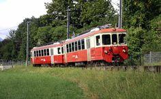 mvr-bdeh-2-4-73-74-ch-hauteville MVR BDeh 2/4 74, 73 -- Château d'Hauteville -- 21.08.2016 Train Suisse, Trains, Vevey, Wooden Train, Photography, Train