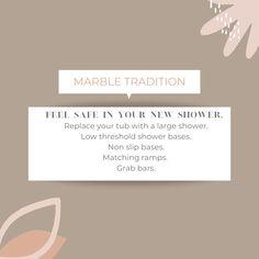 Visit us at 1408 Victoria St N, Kitchener. www.marbletradition.com Large Shower, Grab Bars, Victoria, Place Card Holders, Feelings, Big Shower