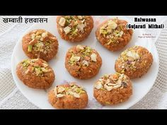 Halwasan is a Gujarati square or round shape sweet dish made from coarsely grounded wheat flour, milk, edible gum & nutmeg. CLICK ABOVE TO VIEW RECIPE Indian Desserts, Indian Sweets, Edible Gum, Masala Sauce, Ramadan Recipes, Easy Food To Make, Food Videos, Sweet Recipes, Milk