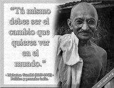 Mahatma Gandhi. Político y pensador indio.