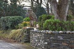 'The Owl' Tree Sculpture at Kinleys Croft, St Judes © Peter Killey - www.manxscenes.com