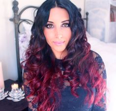 DIY Red Ombre Hair Tutorial: http://www.youtube.com/watch?v=ScFqlUix_Dc