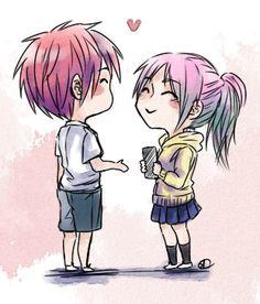 "breedafool: ""oh yeh akamomo doodle for fuwacchi "" #AkaMomo #Akashi #Momoi"