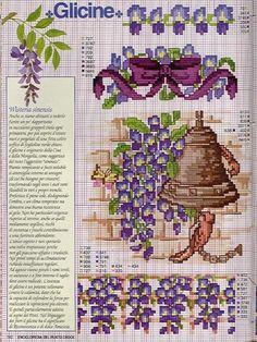 Wisteria flower - purple bow